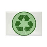 Distressed Recycle Sign Rectangle Magnet (100 pack