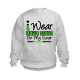 I Wear Lime Green For Sister Sweatshirt