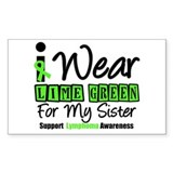 I Wear Lime Green For Sister Rectangle Sticker 10