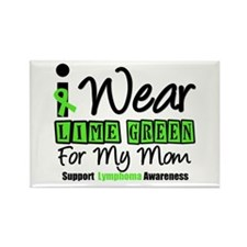 I Wear Lime Green For Mom Rectangle Magnet