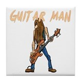 Guitar Man Tile Coaster