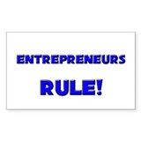 Entrepreneurs Rule! Rectangle Decal