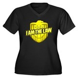 I AM THE LAW: Judge Dredd Women's Plus Size V-Neck
