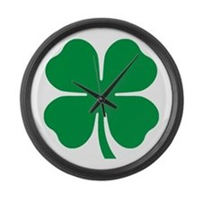 Four Leaf Clover Large Wall Clock