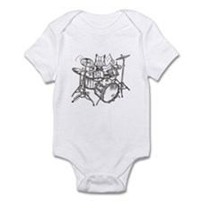 Catoons drums cat Infant Bodysuit