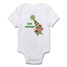 1st Christmas Bird Infant Bodysuit