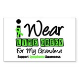 I Wear Lime Green Grandma Rectangle Sticker 10 pk