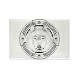 Ink Wolf Totem Rectangle Magnet (100 pack)