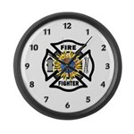 Firefighter Energy Large Wall Clock