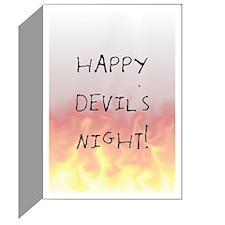 Devil's Night Greeting Card