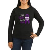 I Wear Purple For My Mom 18 (AD) T-Shirt