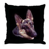 German Shepherd Bust Throw Pillow