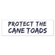 Protect the Cane Toads Bumper Sticker (50 pk)