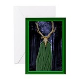 Horned God Blank Greeting Card