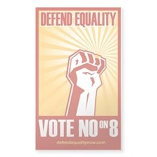 No on 8 Defend Equality 3X5 sticker