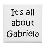 Cool Gabriela Tile Coaster