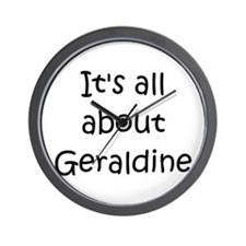 Cute Name geraldine Wall Clock