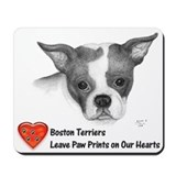 Bostons Leave Paw Prints - Mousepad
