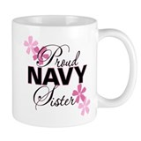 Proud Navy Sister Coffee Mug