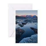 Winter Blue Mountains Greeting Card