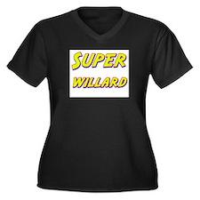 Super willard Women's Plus Size V-Neck Dark T-Shir