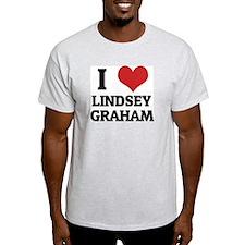 I Love Lindsey Graham Ash Grey T-Shirt