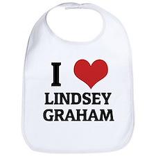 I Love Lindsey Graham Bib