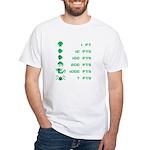 Point Value White T-Shirt