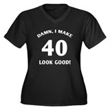 Sexy 40th Birthday Gift Women's Plus Size V-Neck D