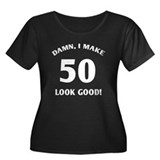 Sexy 50th Birthday Gift Women's Plus Size Scoop Ne