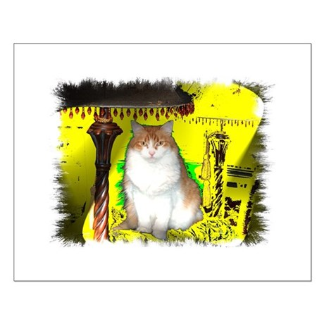 Pop Art Cat Small Poster