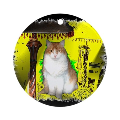 Pop Art Cat Keepsake Ornament