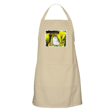 Pop Art Cat BBQ Apron