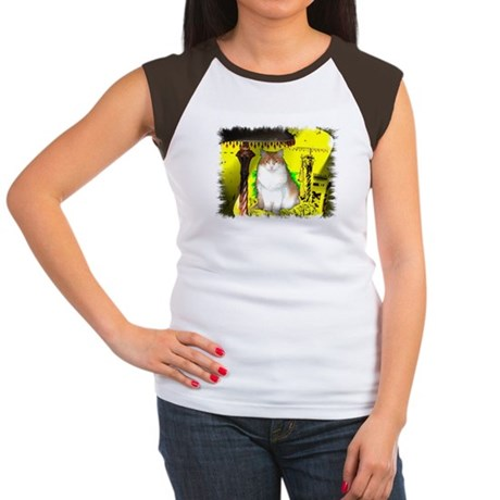 Pop Art Cat Women's Cap Sleeve T-Shirt