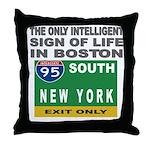 Boston Intelligence Throw Pillow