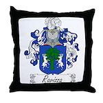 Ravizza Family Crest Throw Pillow