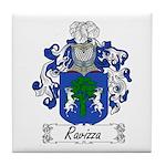 Ravizza Family Crest Tile Coaster