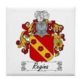 Regina Family Crest Tile Coaster
