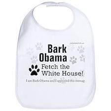 Bark Obama Fetch the White House! Bib