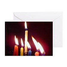 """Hanukkah Candles"" Greeting Cards (Pk of 10)"