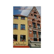 Brugge Buildings Rectangle Magnet