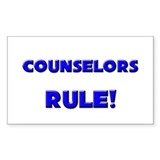 Counselors Rule! Rectangle Decal