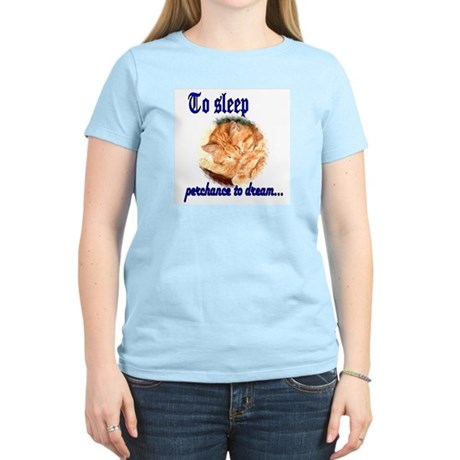 Shakespeare Cat Women's Pink T-Shirt