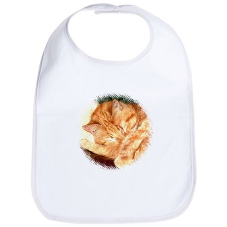 Sleeping Kitty Cat Bib