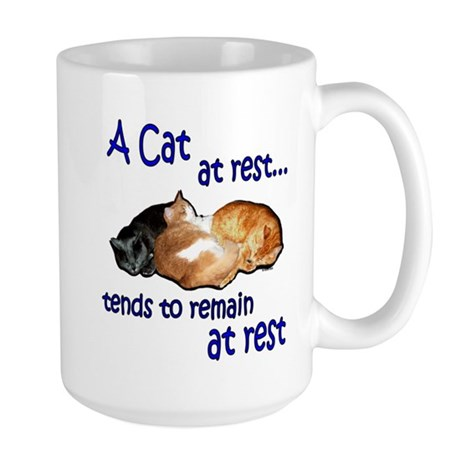 Laws of Physics Cats Large Mug