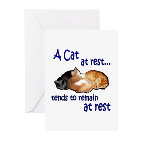 Laws of Physics Cats Greeting Cards (Pk of 10)
