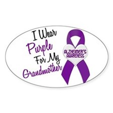 I Wear Purple For My Grandmother 18 (AD) Decal