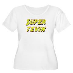 Super tevin Women's Plus Size Scoop Neck T-Shirt