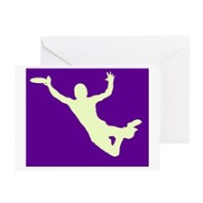 PURPLE YELLOW DISC CATCH Greeting Cards (Pk of 10)