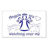 Angels Are Watching Over Me Rectangle Decal